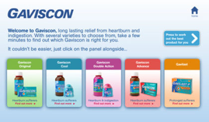 Gaviscon - Flash kiosk presentation
