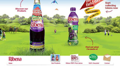 Ribena.co.uk - Flash website built with Gaia framework
