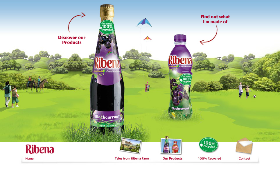Ribena.co.uk - Flash website using Gaia Framework