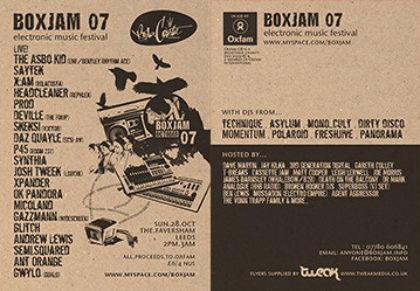 Boxjam - Printed flyer design