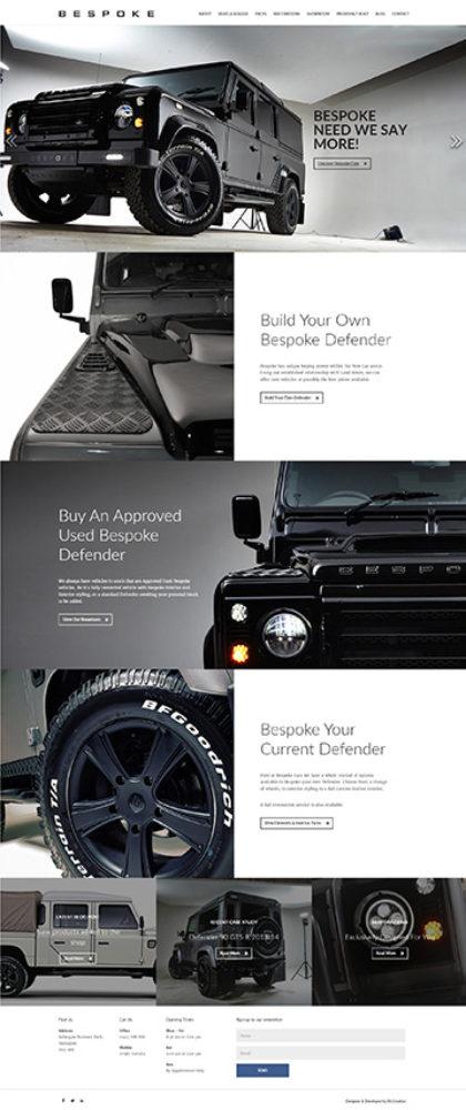Bespoke Cars - responsive Wordpress website